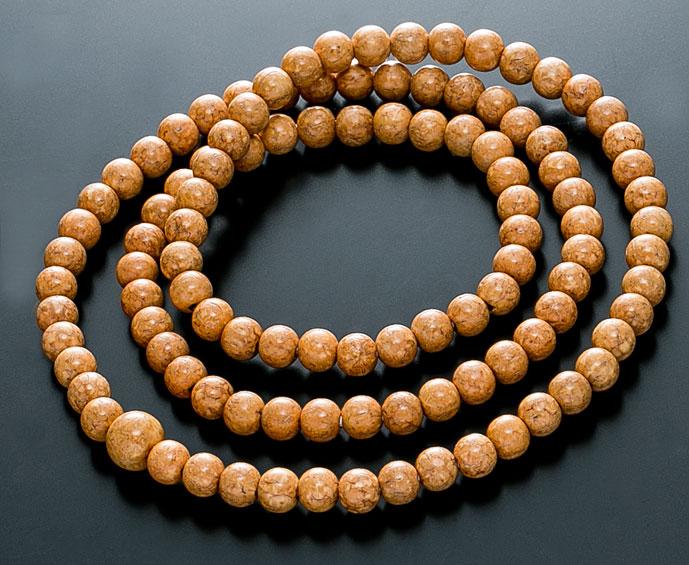 【10%割引クーポン配布中】 数珠ブレスレット 腕輪念珠 108玉 天竺菩提樹 共仕立 手首数珠 桐箱入