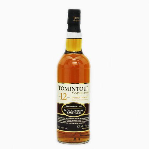 Scotch Whisky 宅送 Single Malt Tomintoul 12y Oloroso Sherry 12年 シングルモルトウイスキー オロロソシェリーカスク 試飲用50mlボトル トミントール 40度 スコッチ セール価格