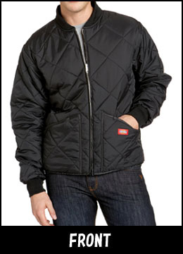 ( Dickies ) DICKIES DIAMOND QUILTED JACKET ダイアモンドキルティッド jacket black