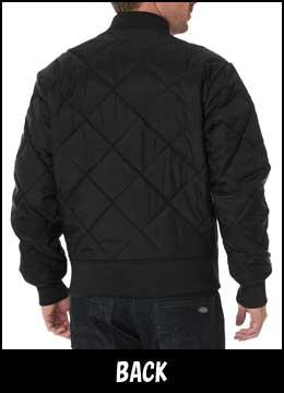 (Dickies) DICKIES 钻石绗缝夹克钻石绗缝外套黑色