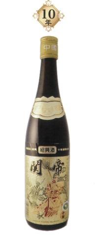 関帝 陳年10年紹興花彫酒(金ラベル)17度、600MLX12本(1ケース売り)、10年熟成ならではの華やか香りと優雅な味わいが堪能できます♪