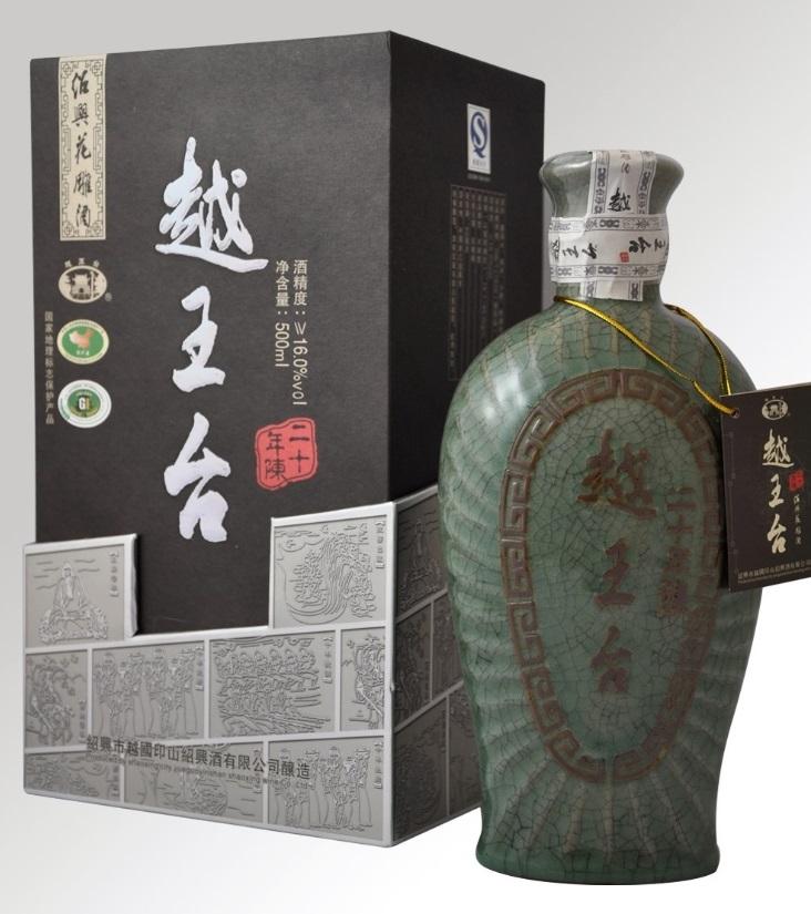 横浜中華街 越王台陳年 20年花彫酒(青磁)、500ml X 6本(1ケース売り)、芳醇な香りと気品ある味わいをお楽しみください♪
