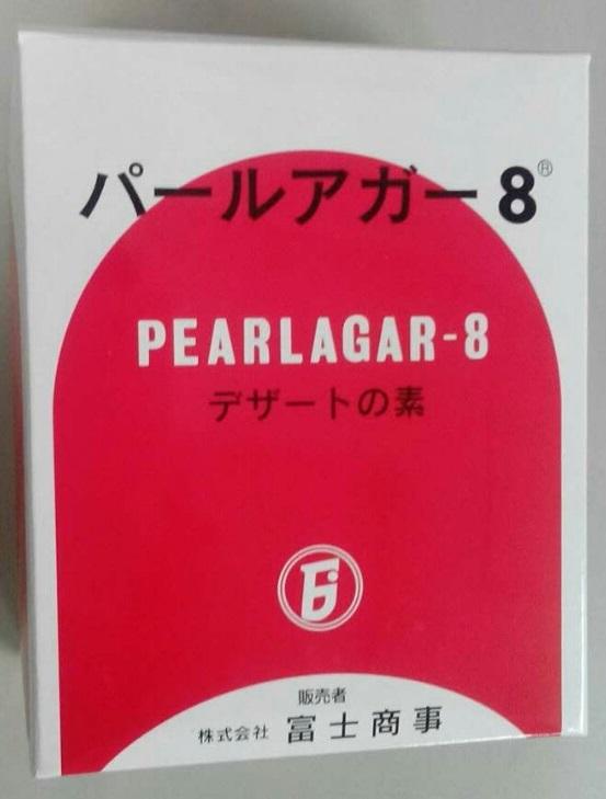 ご家庭でも簡単にゼリーやプリンなどのデザートを作ることができます♪ 横浜中華街 富士商事 パールアガー8(デザートの素) 1000g、海藻から抽出精製された多糖類を主原料としたゲル化剤です。♪