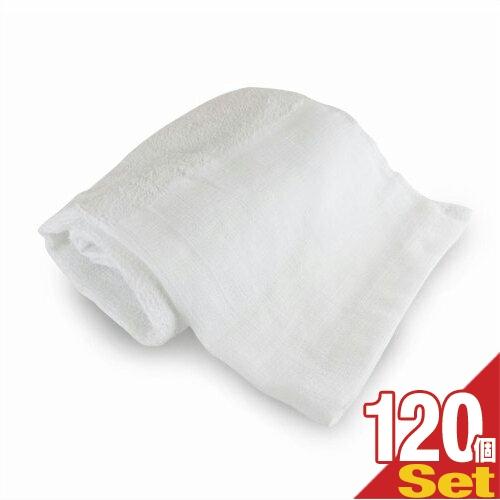 「ホテルアメニティ」業務用 スポーツタオル(大判タオル) 平地付き 綿100% 320匁 (100x40cm) x 120枚セット