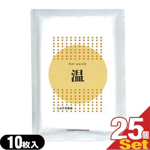 「あす楽対応商品」「ショウガ粉末使用」ホットパッチ 10x14cm(10枚入り) x25袋 【HLS_DU】