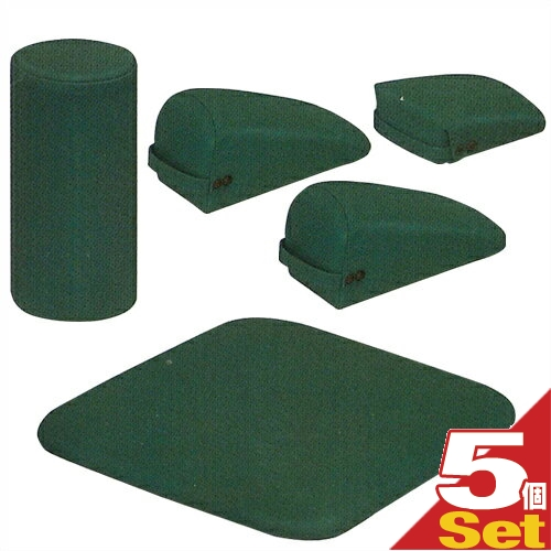 ブロックセットSD(メディグリーン)5個セット「SC-201E」三角ブロック(大)x2、三角ブロック(小)、ロール、ボードセット【smtb-s】
