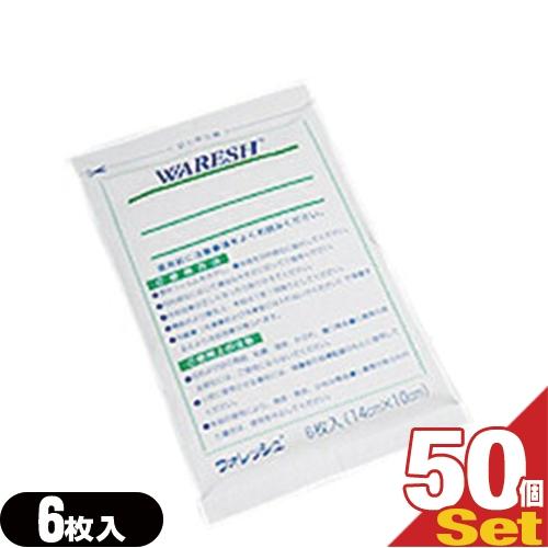 「半ケース売り」「冷却シート」テイコクファルマケア ウォレッシュ(WARESH) 6枚入りx50袋(合計300枚) 【smtb-s】