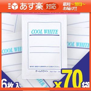 「あす楽対応商品」「貼付型冷却材」テイコクファルマケア クールホワイト(COOL WHITE) 14x10cm 6枚入り x70袋(合計420枚) 【smtb-s】【HLS_DU】