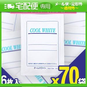 「貼付型冷却材」テイコクファルマケア クールホワイト(COOL WHITE) 14x10cm 6枚入り x70袋(合計420枚) 【smtb-s】