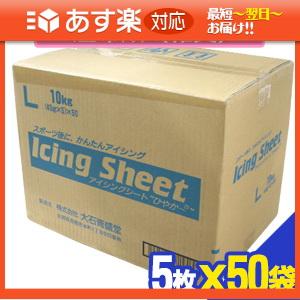 「あす楽対応商品」「冷却材」大石膏盛堂 アイシングシートL(14x20cm) 5枚入り x50袋(合計250枚) 1ケース売り 【smtb-s】【HLS_DU】