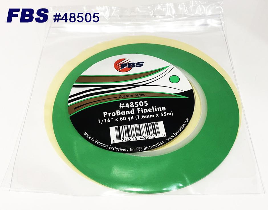 FBSカスタムテープ プロバンド ファインライン グリーン 48505 1.6mm 12本セット マスキングテープ Tape テープ 塗装用品 塗料 塗料 ペイント 車 バイク 建築 カラー デザイン アート