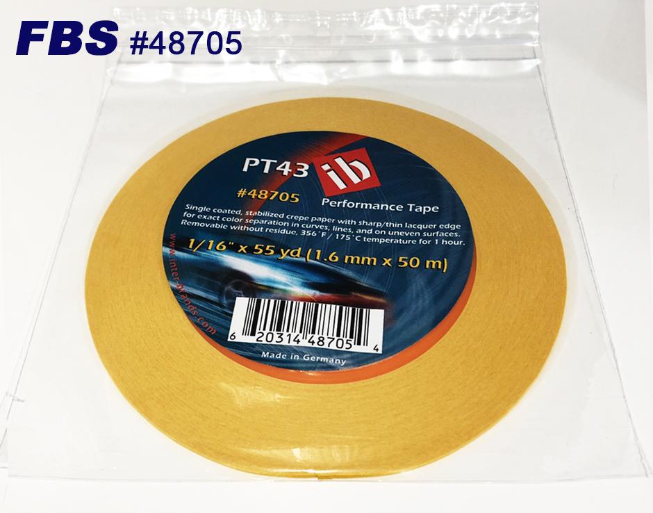 【GWポイント&日替クーポン配布中】FBSカスタムテープ PT43テープ 48705 12本セット 1.6mm PT43 TAPE マスキングテープ Tape テープ 塗装用品 塗料 塗料 ペイント 車 バイク 建築 カラー デザイン アート