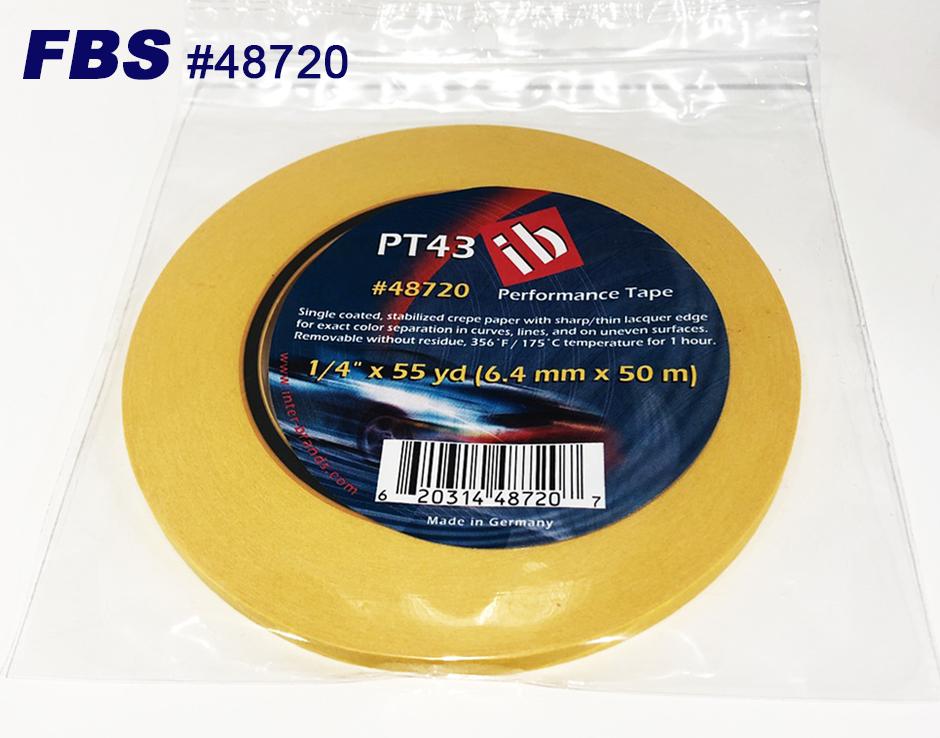 【GWポイント&日替クーポン配布中】FBSカスタムテープ PT43テープ 48720 6.4mm 12本セット PT43 TAPE マスキングテープ Tape テープ 塗装用品 塗料 塗料 ペイント 車 バイク 建築 カラー デザイン アート