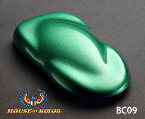 ハウスオブカラー グラマーメタリックベースコート BC09 プラネットグリーン PLANET GREEN 塗料 ペイント 塗装 車 バイク 建築 カラー メタリック デザイン アート カスタムカラー