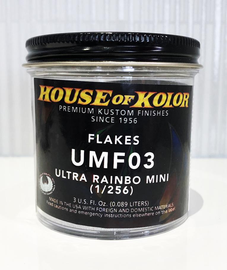 ハウスオブカラー フレーク UMF03 ウルトラレインボミニ 1/256 塗料 ペイント 塗装 フレーク ラメ 車 バイク 建築 カラー デザイン アート カスタムカラー HOK