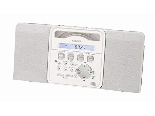 コイズミ ステレオCDシステム 新作多数 コンパクト 薄型 ホワイト 壁掛け可 SAD-4343 W 送料無料(一部地域を除く)