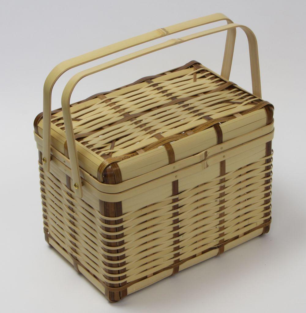 竹細工 「煤竹・すすたけバスケット(小)」29-0002