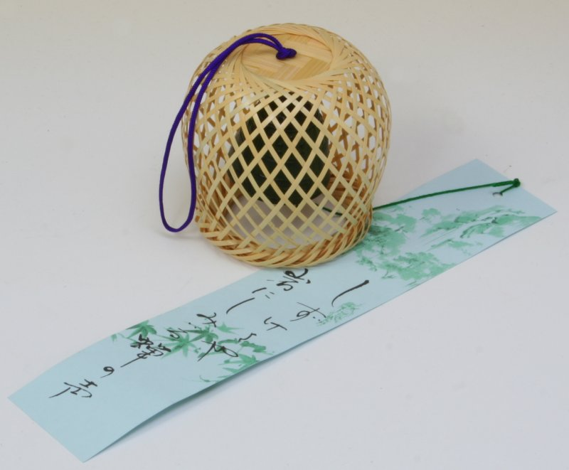 新作からSALEアイテム等お得な商品 満載 涼しさを呼ぶやさしい音色 竹細工 風鈴 丸 国産 ショッピング 透かし編み 86-015