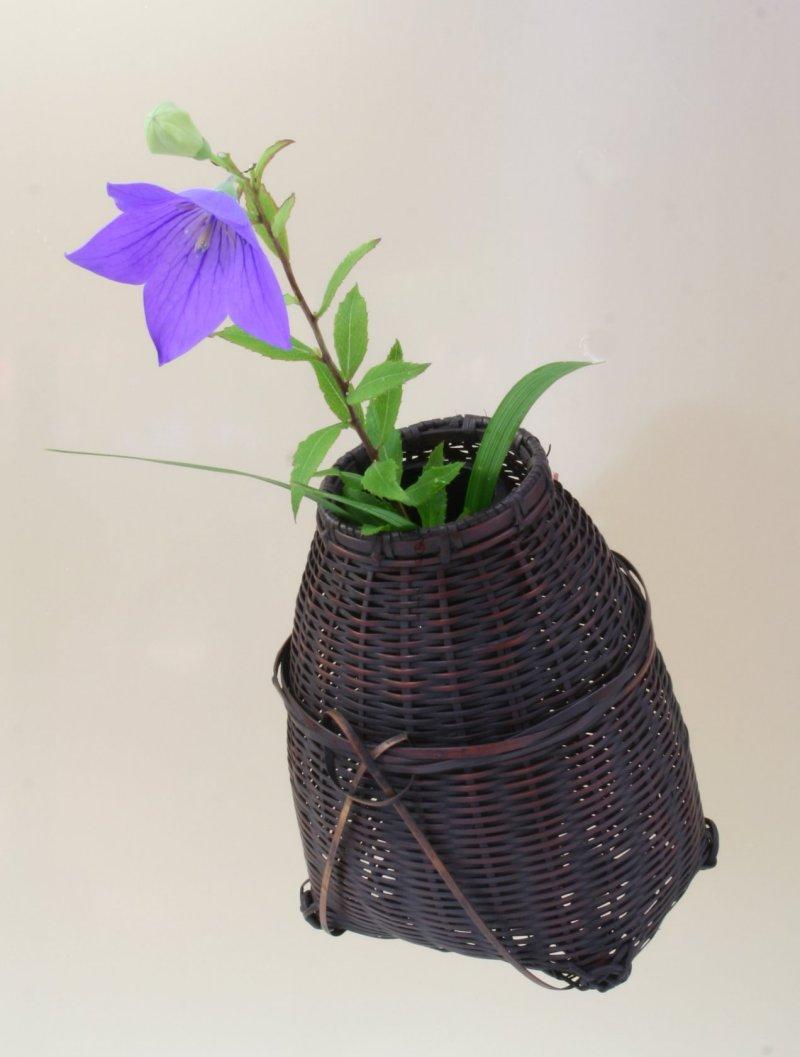 竹製 掛花籠 「あやがけ」15-074 花を楽しむ