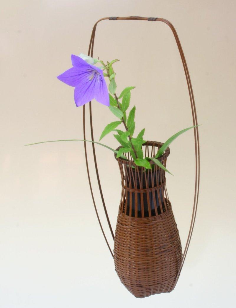 竹製 掛花籠 花の里掛花籠 花を楽しむ