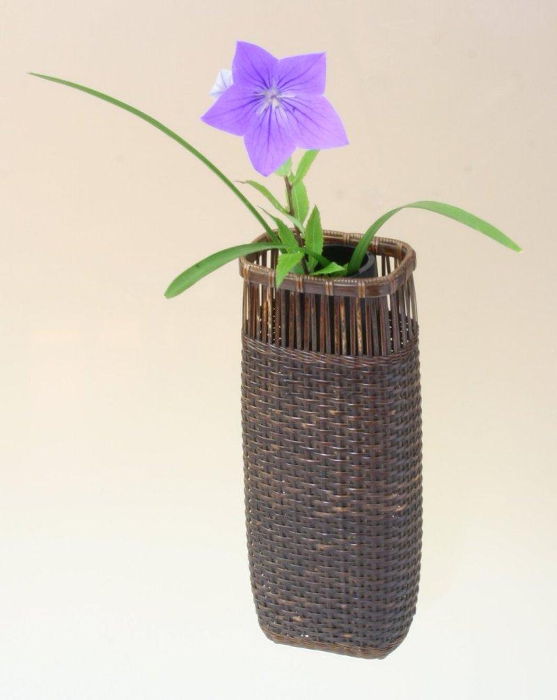 竹製 掛花籠 「山路掛花籠」15-129 花を楽しむ