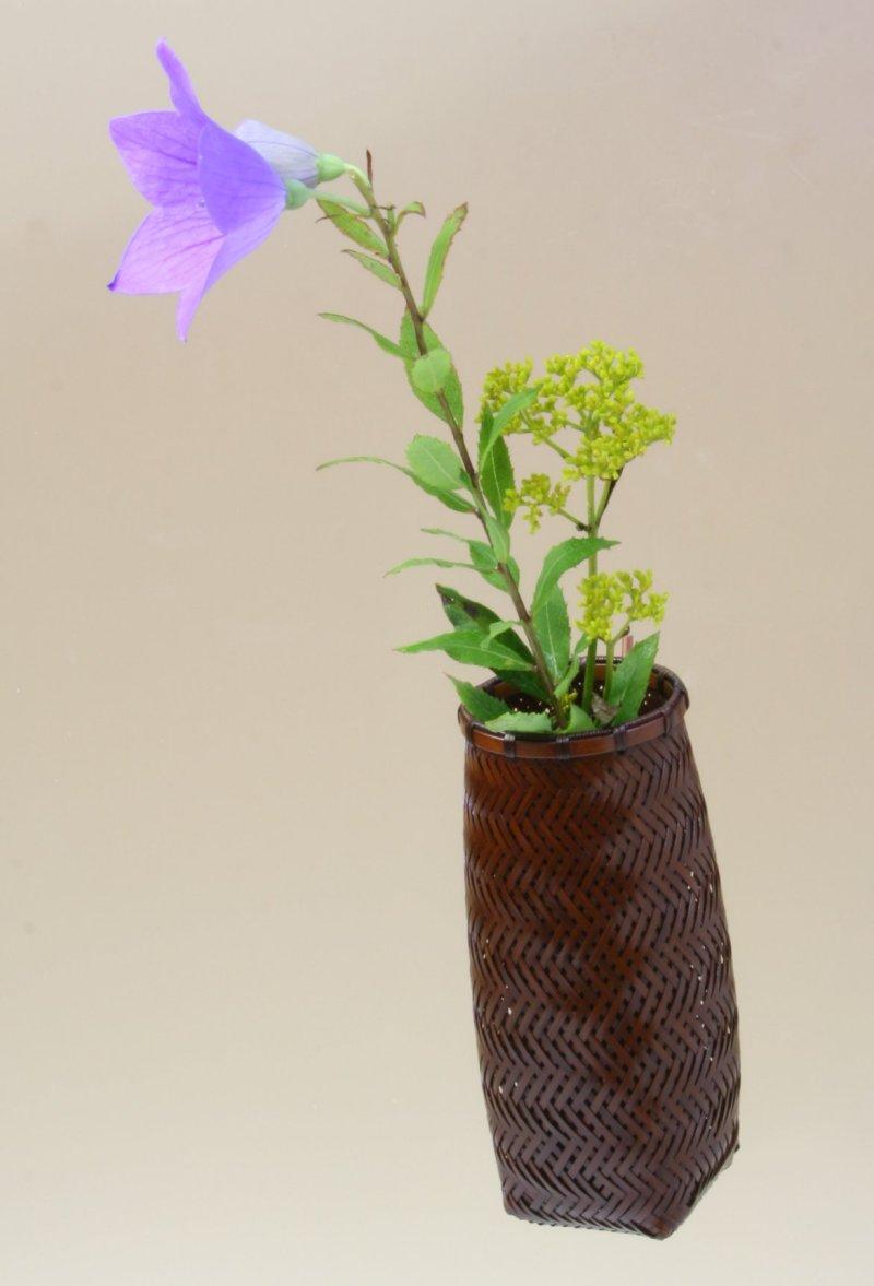 竹製 掛花籠 「ミニ網代掛花籠」15-147 花を楽しむ