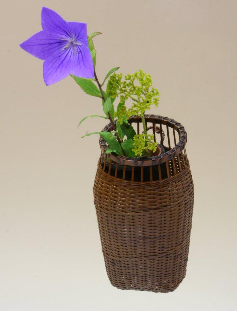 竹製 掛花籠 「千代女掛花籠」15-152 花を楽しむ