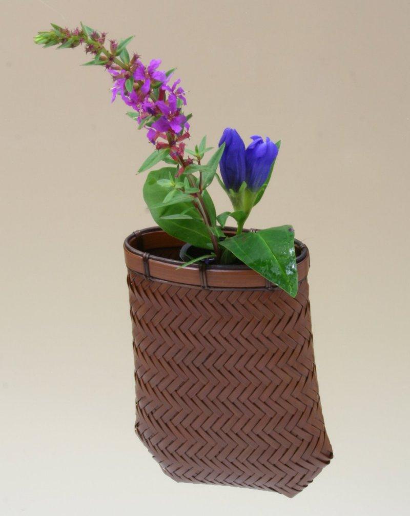 竹製 掛花籠 「ゆかり掛花籠」15-222 花を楽しむ