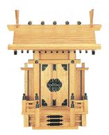 【神棚】一 社 大神明(新ケヤキ) 国産 日本製 【送料無料】