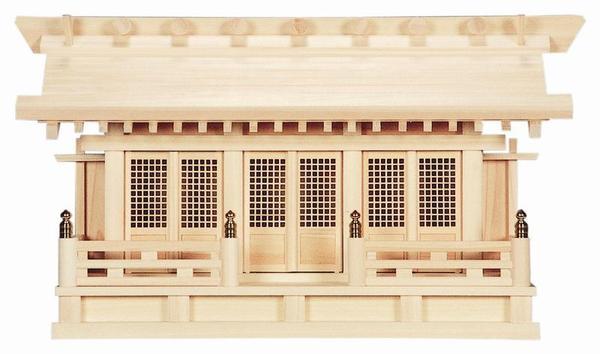 【神棚】[通し屋根]三社(ひのき)簡単に壁掛けができます。壁掛け ひのき 日本製【送料無料】