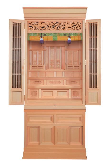 神新白雲22号国産 日本製 ひのき 神道で祖先の霊を祭るための神棚です【送料無料】