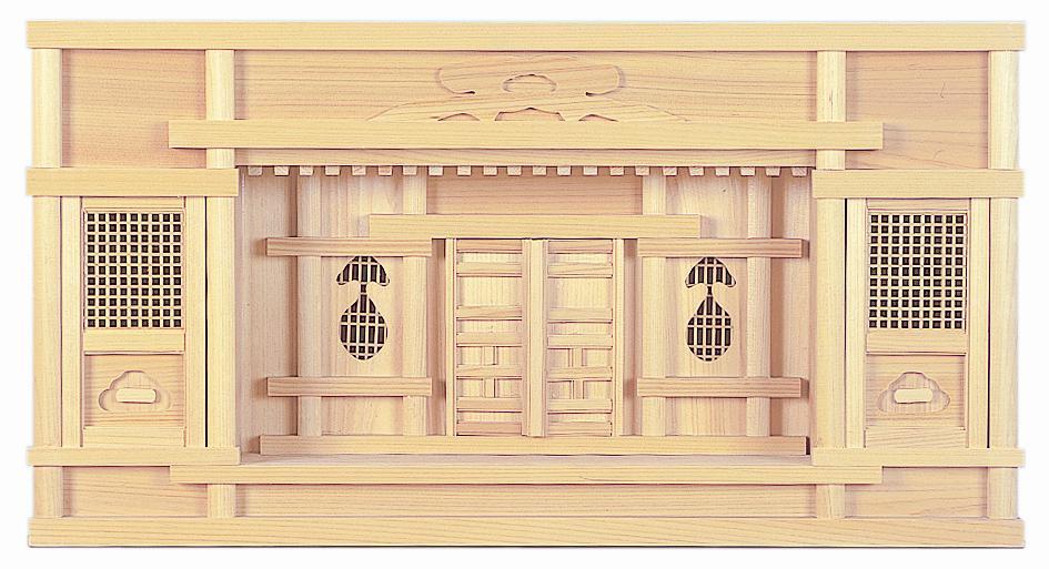【神棚】【箱宮】東型箱宮2尺 高欄付き 国産 日本製【送料無料】