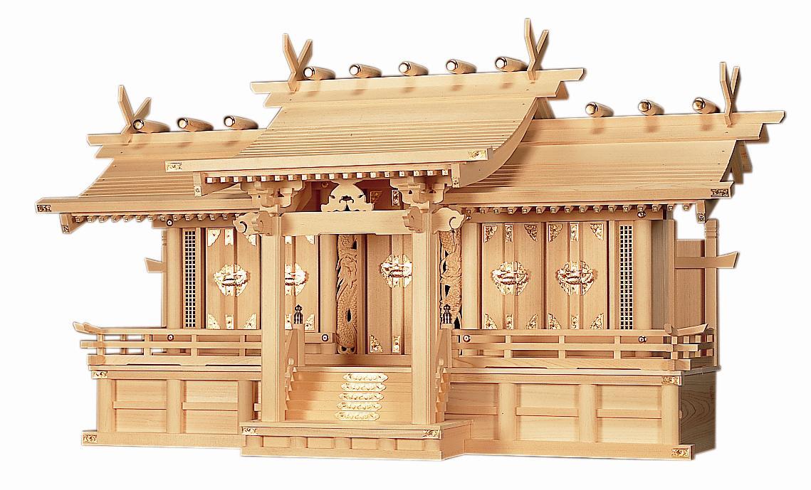 【神棚】屋根違い平安五社 大 神棚 高級神棚 木曽ひのき 国産 日本製