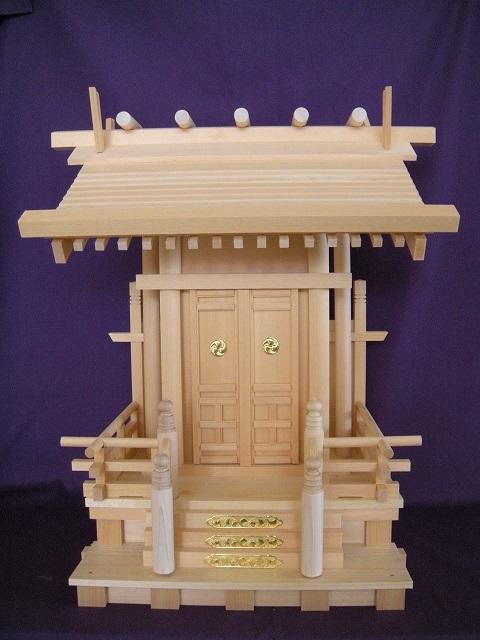 【神棚】一社飛騨新明(木曽ひのき)神棚 国産 日本製 国産神棚【送料無料】