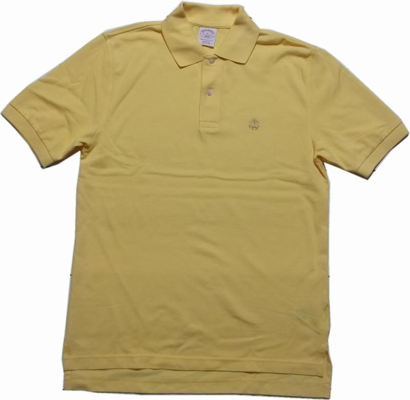 ブルックスブラザーズ ワンポイント 半袖 鹿の子 ポロシャツ イエロー Brooks Brothers POLO SHIRTS 007