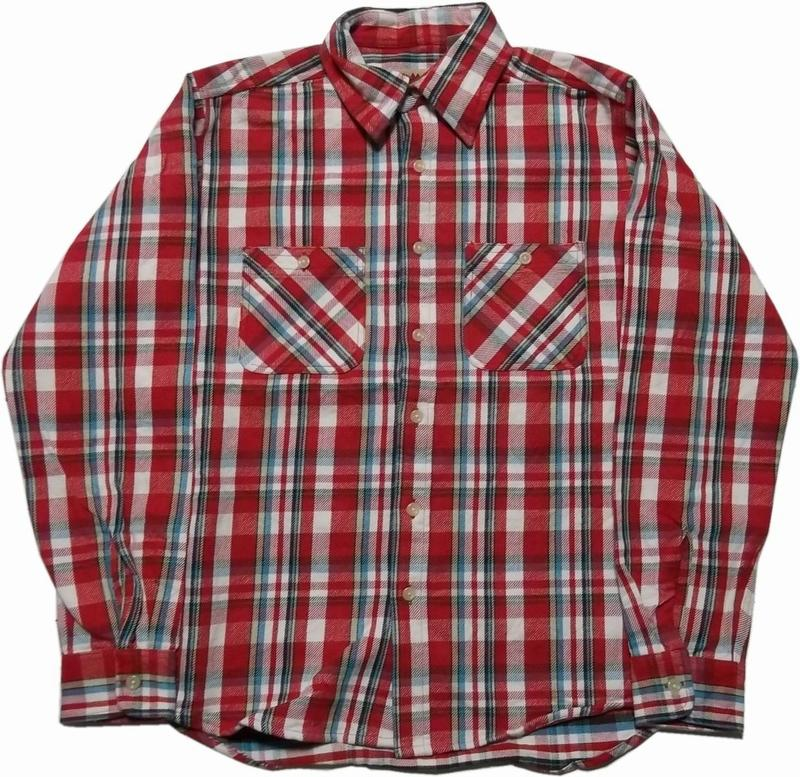 カムコ ヘビーコットン ネルシャツ レッド CAMCO COTTON FLANNEL SHIRTS 025