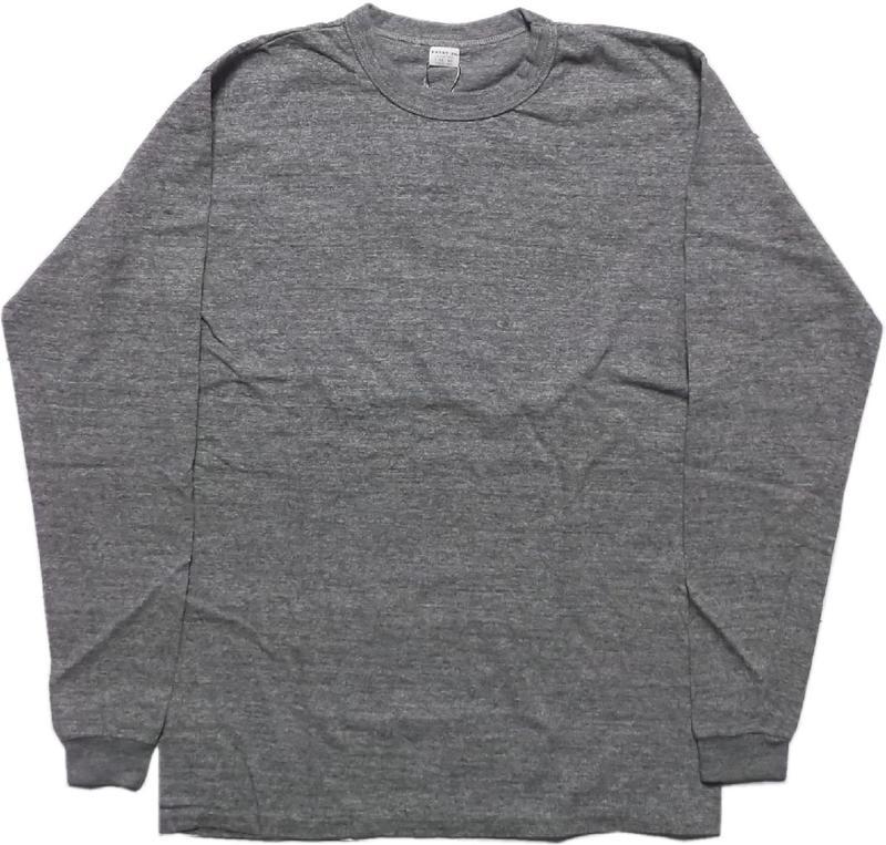 無駄をはぶいたシンプルなデザインと縫製のロンTee エントリーエスジー エクセレントウィーブプラス アイアングレイ ENTRY SG 長袖 定番 Tシャツ GREY 流行 メンズ 107 PLUS EXCELLENT IRON WEAVE
