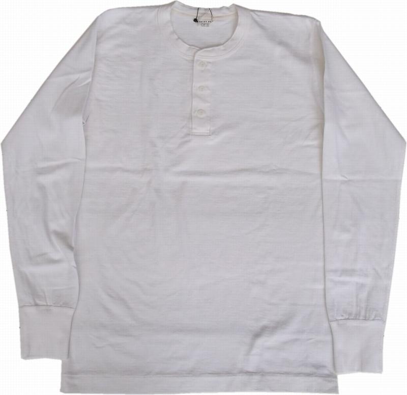 エントリーエスジー メリダ ピュアホワイト 長袖 ヘンリーネック Tシャツ ENTRY SG MERIDA PURE WHITE 252
