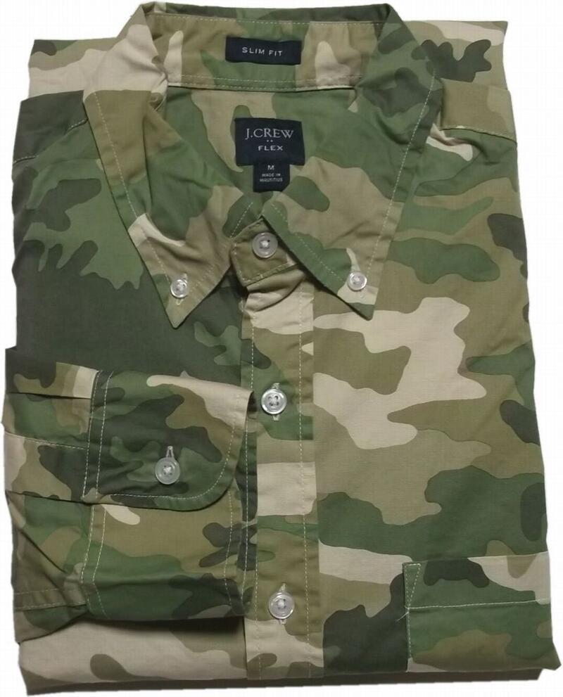 ジェイクルー 長袖 ボタンダウンシャツ 迷彩 カモフラージュ グリーン J.CREW BD SHIRTS 051