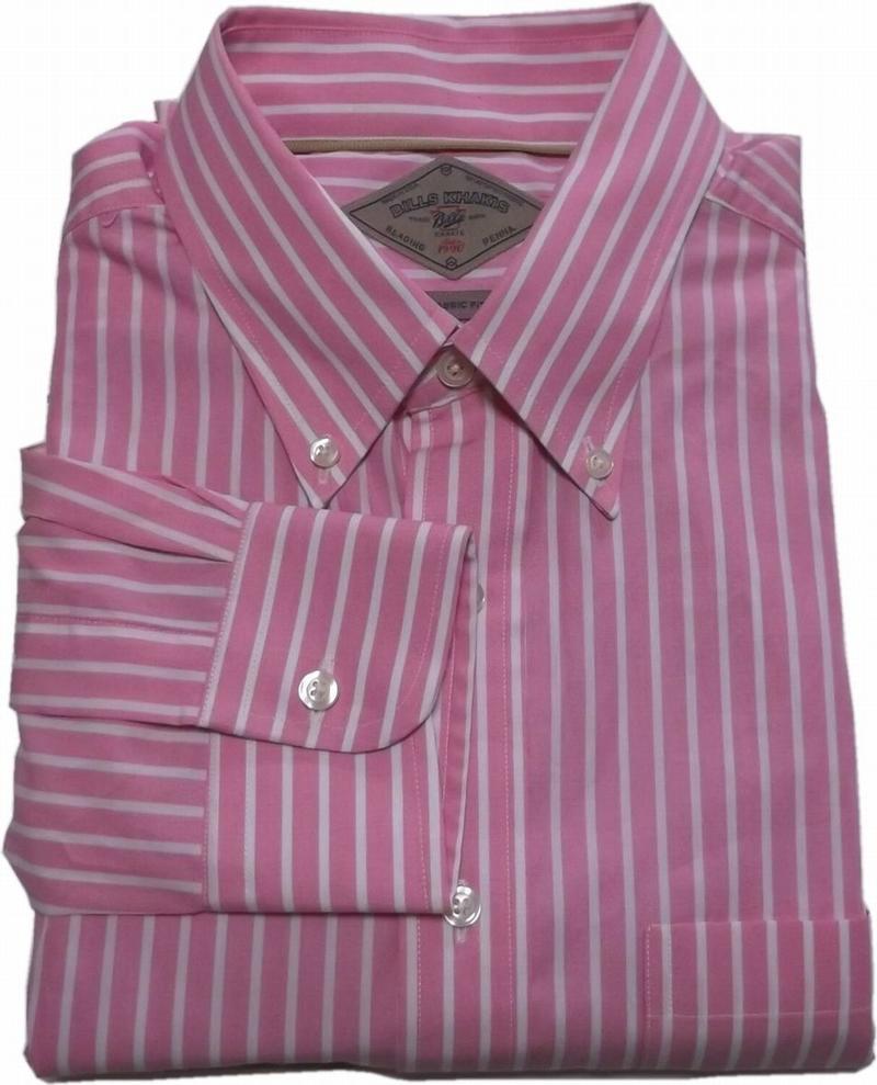 人気のBILLS KHAKIS Made in 海外限定 USAのBDシャツ ビルズカーキ ボタンダウンシャツ アメリカ製 大放出セール 001 BD ストライプ ピンク BILLS メンズ SHIRTS