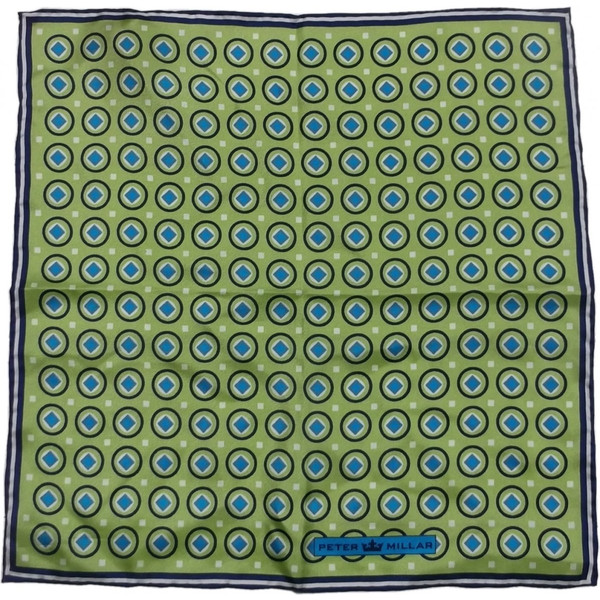 ピーターミラー ポケットチーフ シルク グリーン PETER MILLAR POCKET HANDKERCHIEF 002