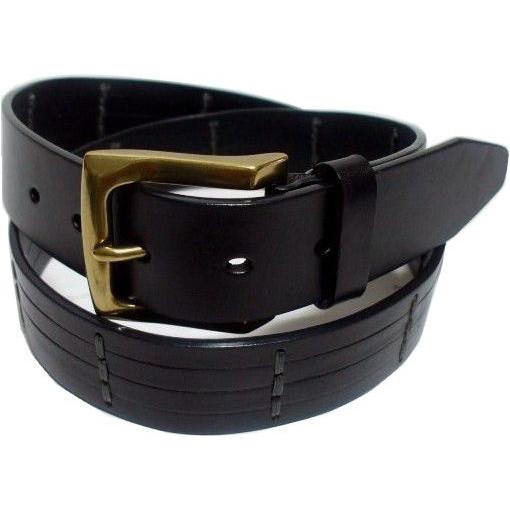 トラファルガー 本革製 レザーベルト 黒 ブラック メンズ TRAFALGAR LEATHER BELT 016