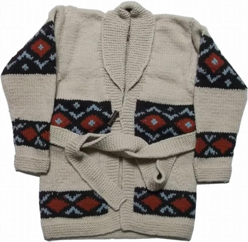 カナタ カウチン セーター ガウン コート メンズ KANATA COWICHAN SWEATER COAT 001