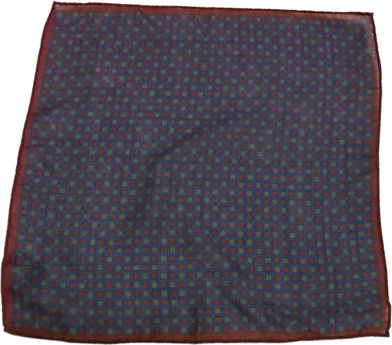 ピーターミラー カシミア混 ウール ポケットチーフ イタリア製 ブルー PETER MILLAR POCKET HANDKERCHIEF 012