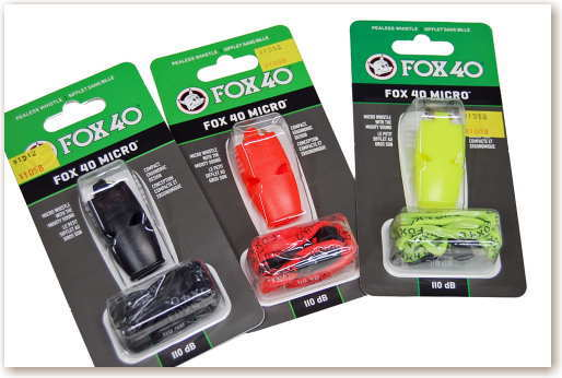 AF FOX40 返品交換不可 マイクロ ストラップ付きホイッスル 卸直営