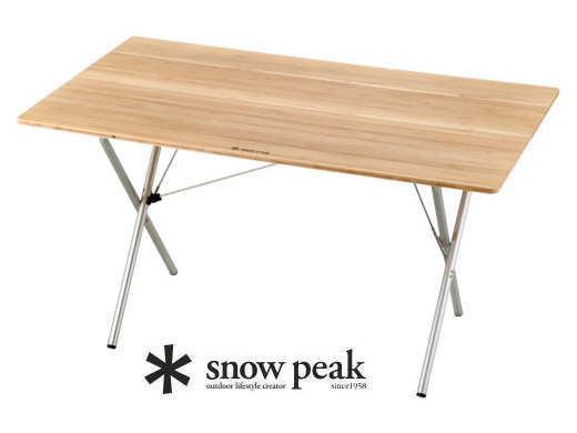 【スノーピーク】Single Action Table Long Bamboo ワンアクションテーブル ロング竹-送料無料-