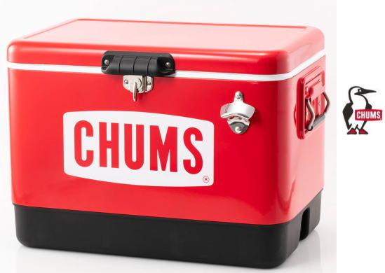 【 CHUMS 】Steel Cooler Box 54Lスチールクーラーボックス 54L●送料無料●