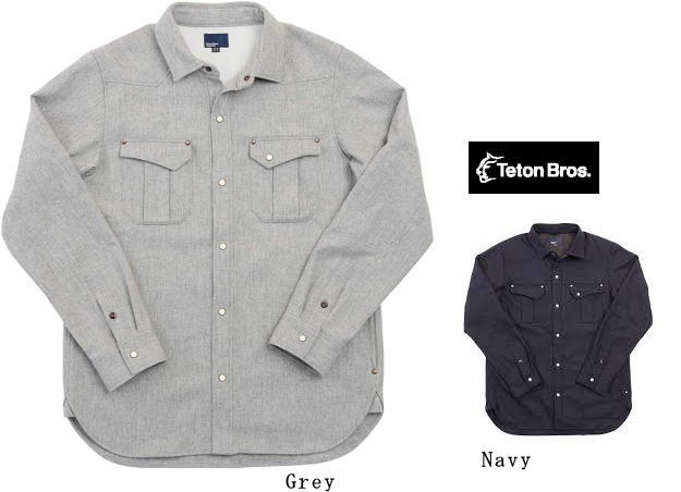 【 Teton Bros 】ティートン ブロスDest.Wool Long Sleeve Shirt【 40% OFF ! 】