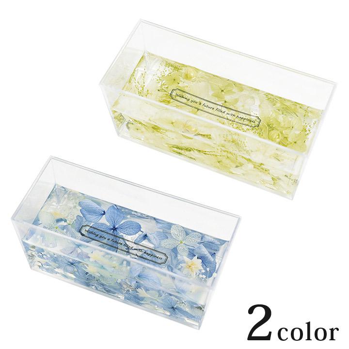 日本産 材料セット 雑貨 インテリア キット プレゼント ギフト 母の日 固まるハーバリウム ハードニング シリコンゲル セット レクタングル かわいい おしゃれ タイムセール ドライフラワー デザインフラワーカップ エルベール 3D