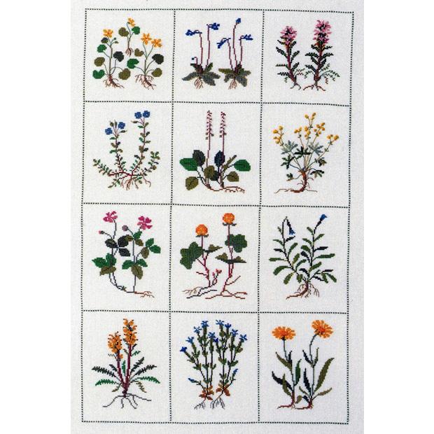 刺繍 輸入キット Haandarbejdets Fremme(フレメ) 可憐な花